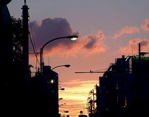 「ねえ、明け方と夕方って、すごく似てると思わない?」     from 「放課後の音符」山田詠美
